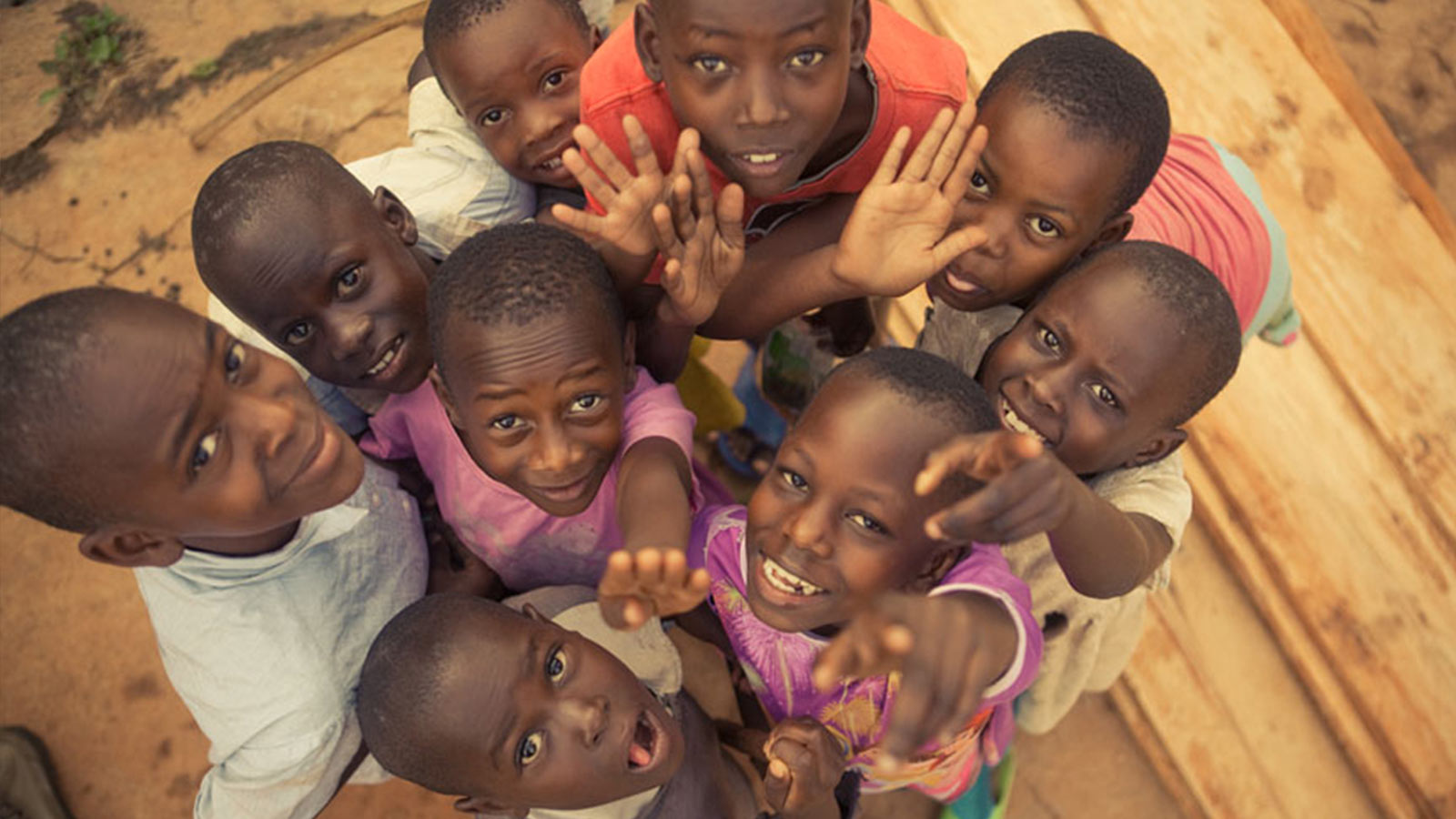 A group of Rwandan children