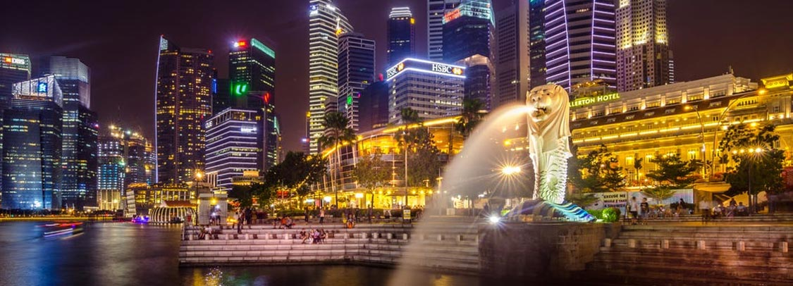 Singapore night landscape