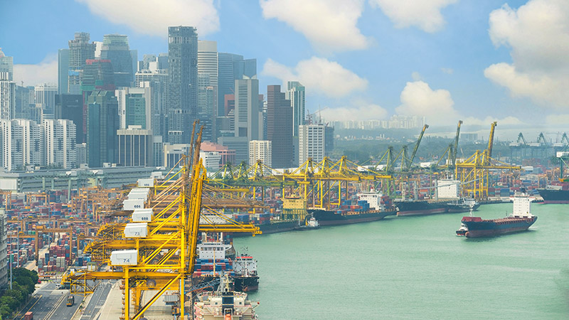 Shipping ports in Singapore