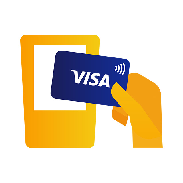 Tap your Visa card on bus or train gantry reader