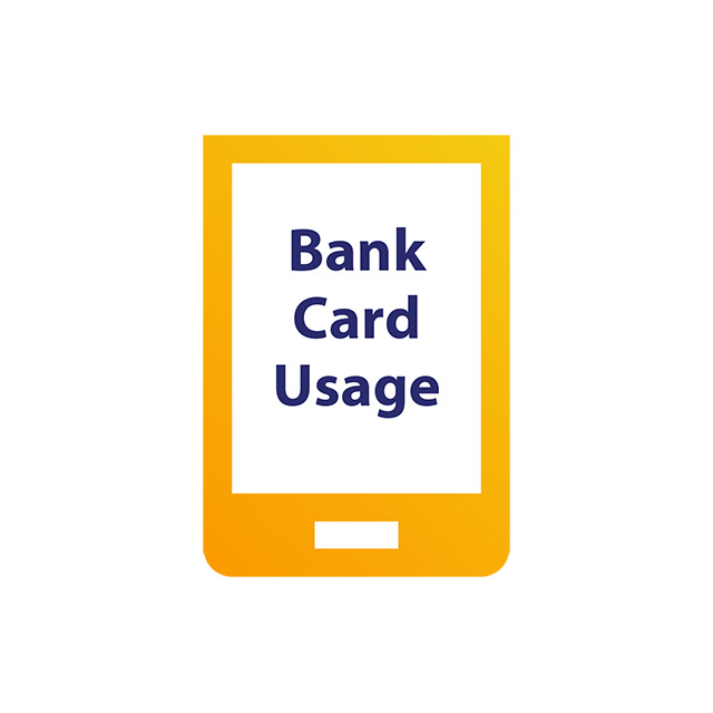 The reader will indicate Bank Card Usage